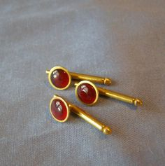 Raspberry RED Glass Formal SWANK Tuxedo Shirt STUD Buttons w gold fill Finish - vintage Deco Era Classic Wedding Jewelry Madmen Husband gift by StitchInTimeJewelry on Etsy #vintagejewelry #etsygifts #vintagestuds #formaltuxedostuds #formaljewelry #swankjewelry #swankshirtstuds #husbandgift #weddingjewelry #anniversarygift #etsyshop #stitchintimejewelry