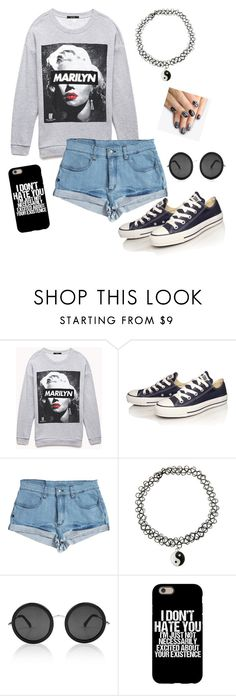 """""""Marilyn Monroe"""" by dcamacho1414 ❤ liked on Polyvore featuring Forever 21, Converse, Somedays Lovin, Linda Farrow and alfa.K"""