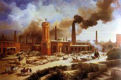 Las revoluciones industriales:  Las transformaciones son, en esencia, el paso del trabajo manual a la producción en la fábrica. La revolución industrial, que es como se llama este proceso, se inicia en Gran Bretaña, país que tiene unas condiciones idóneas para ello. La revolución se da en dos fases.