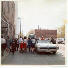 Bobby Kennedy stopping at Drewry's on Elwood. My dad worked at Drewry's for over 30 years.
