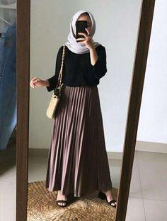 Hijab Casual, Ootd Hijab, Modest Fashion Hijab, Modern Hijab Fashion, Street Hijab Fashion, Muslim Women Fashion, Modest Outfits, Classy Outfits, Casual Outfits