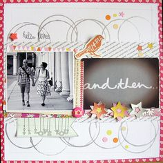 #papercraft #scrapbook #layout HelloLove by iamelel at @Studio_Calico