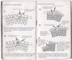 la oveja escocesa patterns: Vueltas cortas