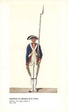 Spanish(Nueva Espana); Regiment de Infanteria de la Corona, 1788