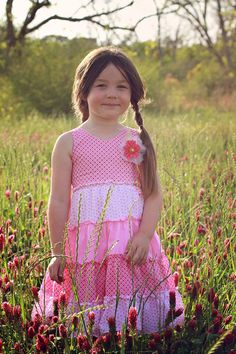 Perfectly Whimsy Pink Girls Dress