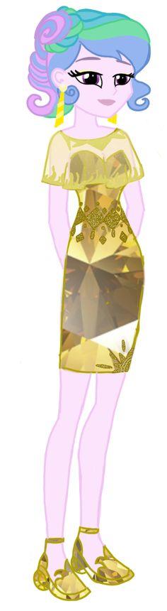 Celestia Yellow Sun Diamond Dress by Tsundra.deviantart.com on @DeviantArt