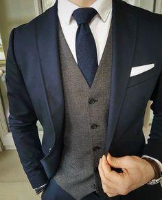 Navy slim fit suit with grey waistcoat THE DROP Mens Wedding Suits Navy, Blue Suit Wedding, Wedding Men, Best Wedding Suits For Men, Wedding Ideas, Mens Fashion Suits, Mens Suits, Suits Women, Navy Slim Fit Suit