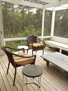 Enjoy this Wellfleet Vacation Rental.  It is a special Cape Cod Modern home and one of Chermayeff's designs.   Enjoy the screened in porch in the Wellfleet Woods and The National Seashore.