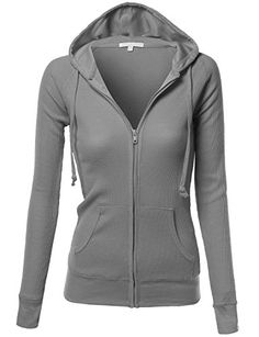 Xpril Women's Basic Lightweight Zip Hooded Jackets - LEARN MORE @: http://www.passion-4fashion.com/clothing/xpril-womens-basic-lightweight-zip-hooded-jackets/
