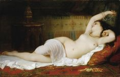 Charles Zacharie Landelle The waking up , 1864 oil on canvas  94 x 145 cm ; 37 by 57 in | MutualArt