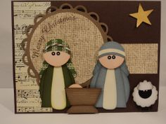 Card Corner by Candee: Merry Christmas Card explained - - Christmas Card Crafts, Merry Christmas Card, Christmas Paper, Holiday Cards, Christmas Cards, Paper Punch Art, Punch Art Cards, Nativity Crafts, Ideias Diy