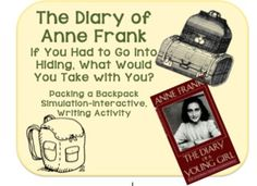 A Simulation, Engaging Activity for The Diary of Anne Frank-What Would You Take into Hiding with You?