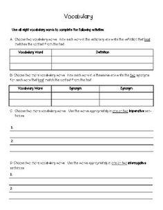 8+ Blank Vocabulary Worksheet Templates – Free Word, PDF Documents ...