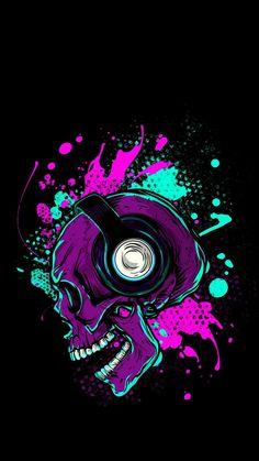 Music Skull iPhone Wallpaper - iPhone Wallpapers