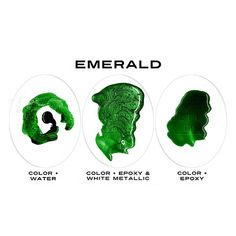 Emerald - Intense Color or Epoxy Resin, Resin Pigment Dye, Resin Colorant, Resin Jewelry Making, Res Epoxy Resin Art, Diy Resin Art, Resin Crafts, Marble Painting, Acrylic Paintings, Resin Jewelry Making, Diy Tumblers, Color Combos, Color Schemes