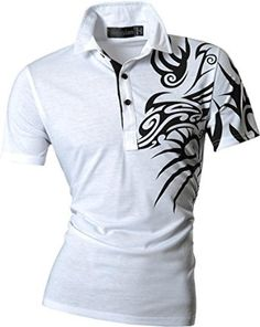jeansian Men's Slim Fit short Sleeves Casual POLO Tee T-Shirts U010