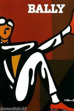 Affiche Publicitaire (21 X 29,7 cm) Repro - Villemot - CHAUSSURE BALLY | eBay