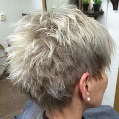 Short Feathered Ash Blonde Hairstyle