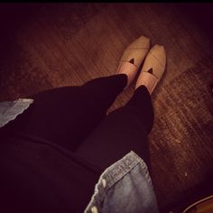 Casual wear... Love my toms!