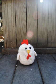Woolie Chicken Hand Crocheted Plush by SweetCarolyns on Etsy