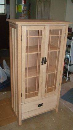 Mission Bookcase Quartersawn Oak~Unfinished