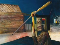 Sidney Nolan ~ Glenrowan ~ ~ Ripolin op hardboard ~ x 122 cm. Australian Painters, Australian Artists, Sidney Nolan, Victoria Art, Art Database, Realism Art, Abstract Styles, Cool Artwork, Surrealism