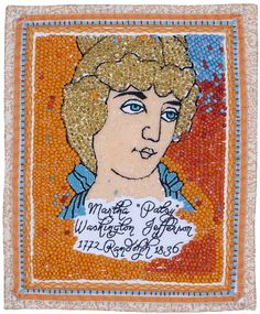 "Martha ""Patsy"" Washington Jefferson Randolph/Beaded Quilt/9 Inches x 11 Inches/2014 michaelaaronmcallister.com"