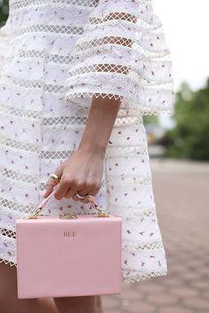 Atlantic-Pacific // The Daily Edited Personalised peony pink box bag, The Daily Edited Blair Eadie, Atlantic Pacific, Bucket Bag, Box Bag, Valentine Day Gifts, Spring Fashion, Women's Fashion, Korean Fashion, Fashion Ideas