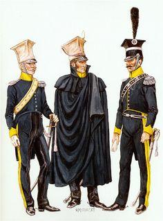 Vistula Legion 1.The officer in uniform-frake.1813. 2.Ofitser cloak-shineli. 1812. 3.Ofitser jacket and Thrace.