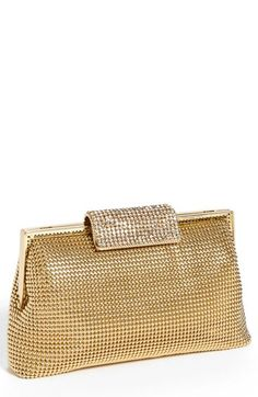 Whiting & Davis Crystal Frame Clutch available at #Nordstrom