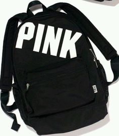 ===> http://www.brand-handbags.net <===More Gorgeous Handbag Collections -Victoria's Secret PINK Campus Backpack Bookbag Travel Black w/ White Logo #VictoriasSecret #Backpack