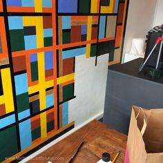 Mural at Maccheroni - Painting behind the counter...