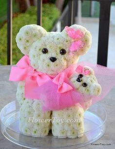 FlowerToy It's A Girl Mommy Bear