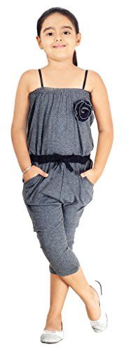 Naughty Nino's Cotton jumpsuit in Grey melange colour - http://www.zazva.com/shop/kids-clothing-accesories/naughty-ninos-cotton-jumpsuit-grey-melange-colour/ Shell: 100% cotton natural stretch fabric Soft handfeel for extreme comfort Chic 3/4th length for Indian summers