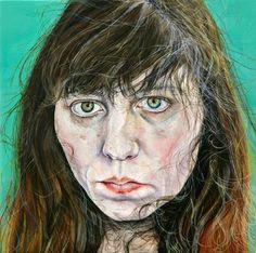 √ Ishbel Myerscough (American, 'Self Portrait', 2012 Barnett Newman, Alex Colville, Andrew Wyeth, Human Painting, Figure Painting, Akira, Bo Bartlett, Modern Portraits, Portrait Sketches