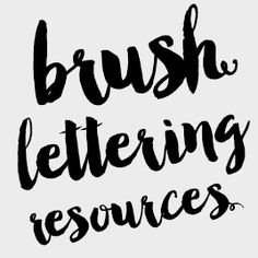 Learn brush lettering with these free tutorials, tips and techniques, as well as online courses.