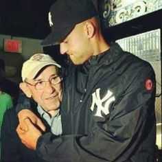 Derek Jeter and Yogi Berra.two of the greatest Yankees ever Yankees Baby, New York Yankees Baseball, Derek Jeter, Baseball Players, Baseball Teams, Cardinals Baseball, Mlb Teams, Sacramento, Goodbye Letter