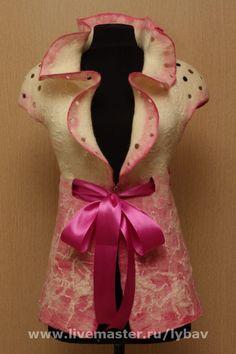 Felted Vest by Lubov Voronina Ярмарка Мастеров - ручная работа Воздушная зефиринка. Handmade.