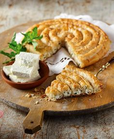 search - www. Pita Recipes, Greek Recipes, Greek Pita, Cheese Pies, Savory Tart, Waffles, Bread, Breakfast, Food