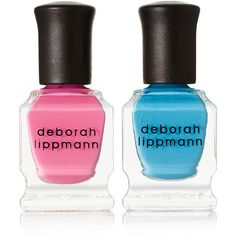 Deborah Lippmann Life's A Beach Nail Polish Set ($19) ❤ liked on Polyvore featuring beauty products, nail care, nail polish, makeup, nail, beauty, cosmetics, deborah lippmann nail color, deborah lippmann and shiny nail polish