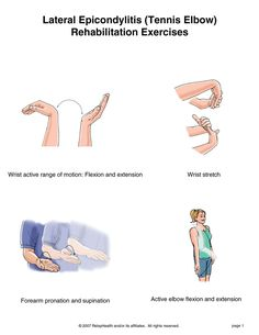 Tennis Elbow stretches & exercises