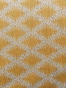 Pattern Name: Lindi Diamond Colour: Width: 130 cm Repeat: 6 cm Ground Fabric: Natural HopsackLinen Made In England Fabric Houses, News Design, Diamond, Wallpaper, Fabrics, Yellow, Color, Natural, Home Decor