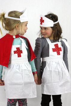 Sweetheart Nurses Outfit - girls costume fancy dress apron by sparrowandbcostumery on Etsy Dress Up Aprons, Dress Up Outfits, Dress Up Costumes, Diy Costumes, Girl Outfits, Fancy Dress Costumes Kids, Fashion Outfits, Kids Nurse Costume, Cute Nurse