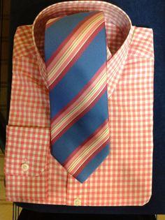 J. Hilburn custom shirt and ties