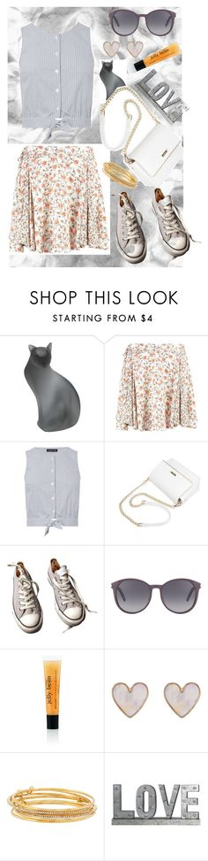 """Hey There Jellybean!"" by classyxsassy ❤ liked on Polyvore featuring Daum, Warehouse, Converse, Yves Saint Laurent, New Look, Kate Spade, Privilege and Floralskirts"