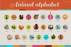 Animal Alphabet ~ Illustrations on Creative Market