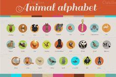 Check out Animal Alphabet by Darish on Creative Market