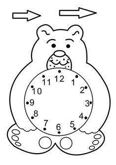 #saat #kesyapıştır #okulöncesi English Activities, Craft Activities For Kids, Preschool Activities, Fall Preschool, Preschool Math, Key Stage 1 Maths, Telling Time Games, Clock Face Printable, Coloring Books