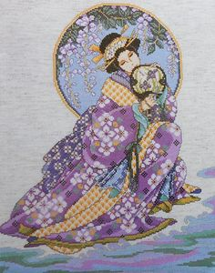 Joan Elliott Geisha ORIENTAL LADY BEAUTY Asian - Counted Cross Stitch Pattern Chart