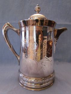 St Louis Silver Company Quadruple Plated Ice Water Pitcher